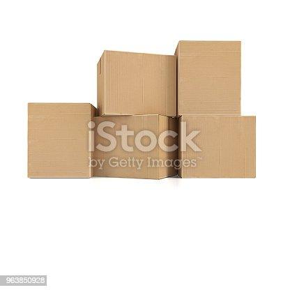istock Cardboard boxes 963850928