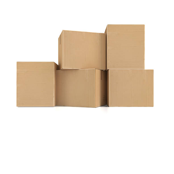 Cardboard boxes Cardboard boxes medium group of objects stock pictures, royalty-free photos & images