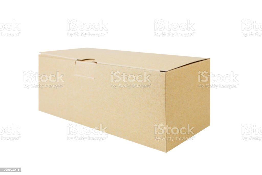 Brauner Karton isoliert auf weißem Hintergrund. - Lizenzfrei Behälter Stock-Foto