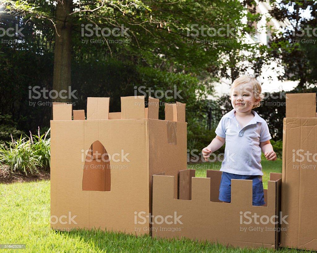Cardboard Castle stock photo