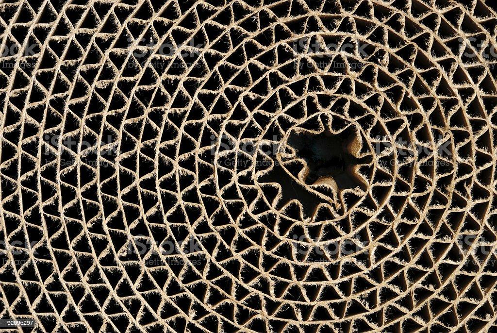 Cardboard Circle royalty-free stock photo