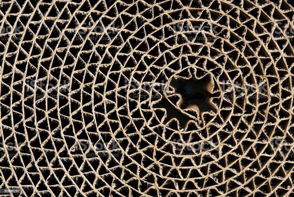 Cardboard Circle stock photo