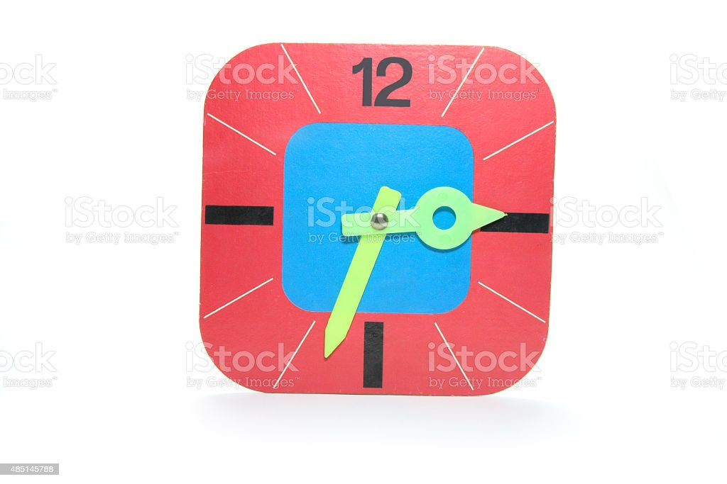 Cardboard Clock stock photo