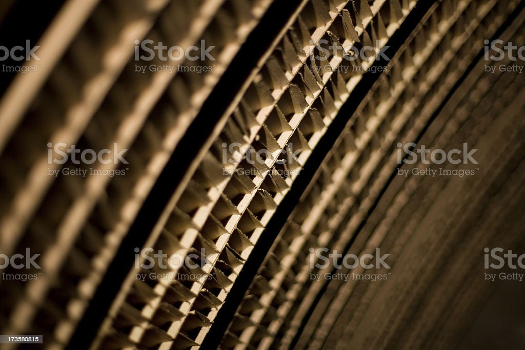 Cardboard diagonal background royalty-free stock photo