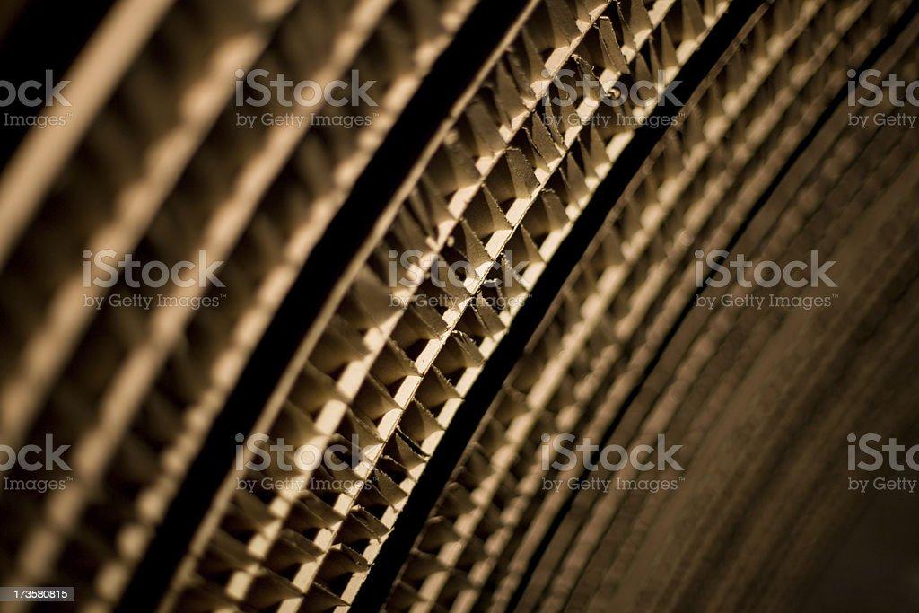 Cardboard diagonal background stock photo