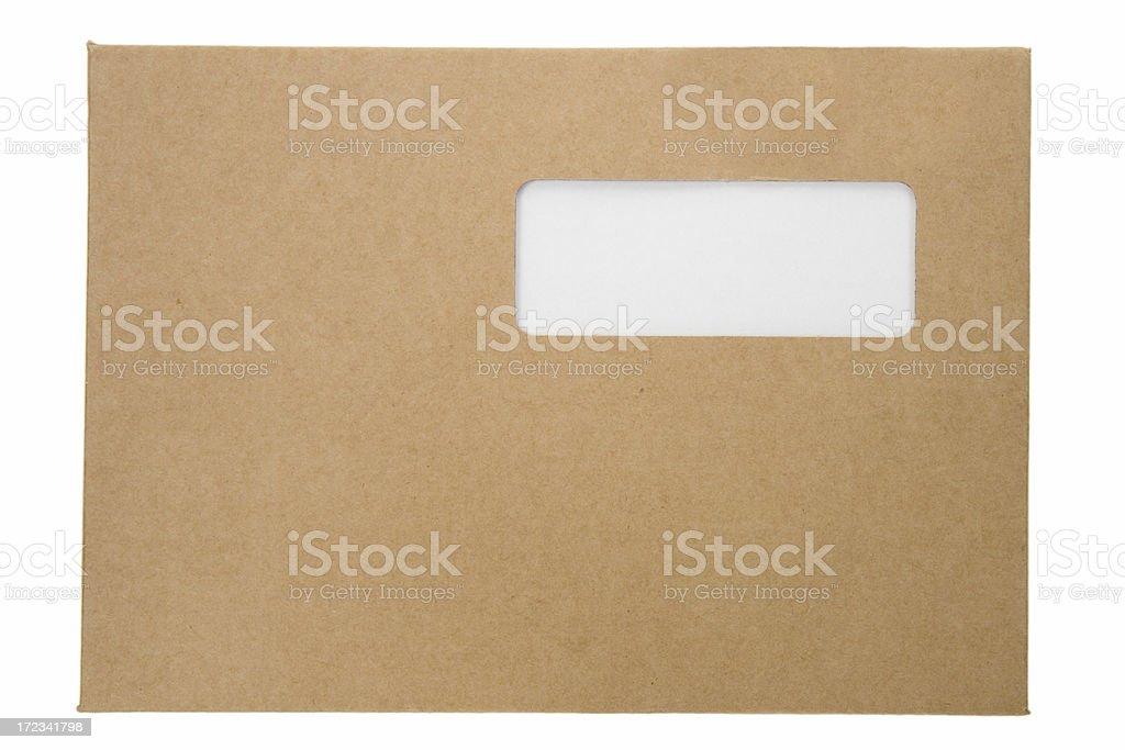 Cardboard envelope royalty-free stock photo