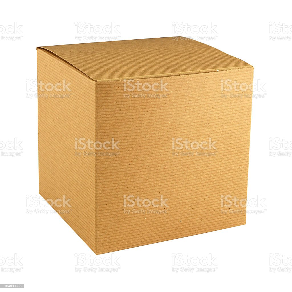 Cardboard gift box royalty-free stock photo