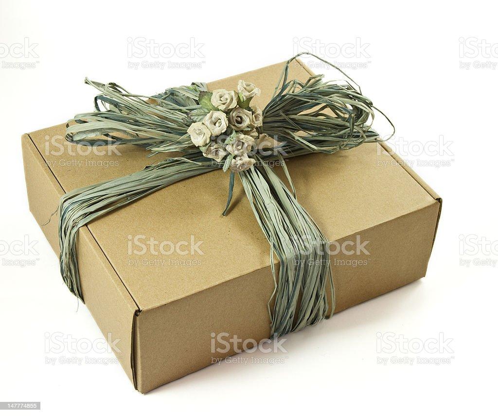 Cardboard gift box stock photo