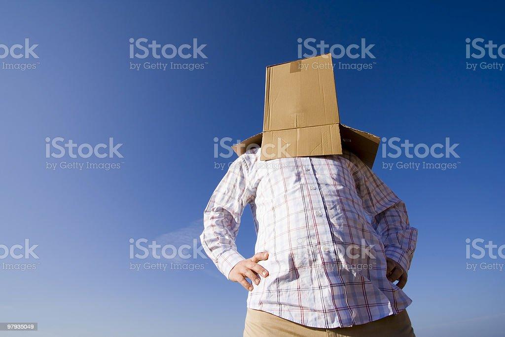 cardboard head royalty-free stock photo