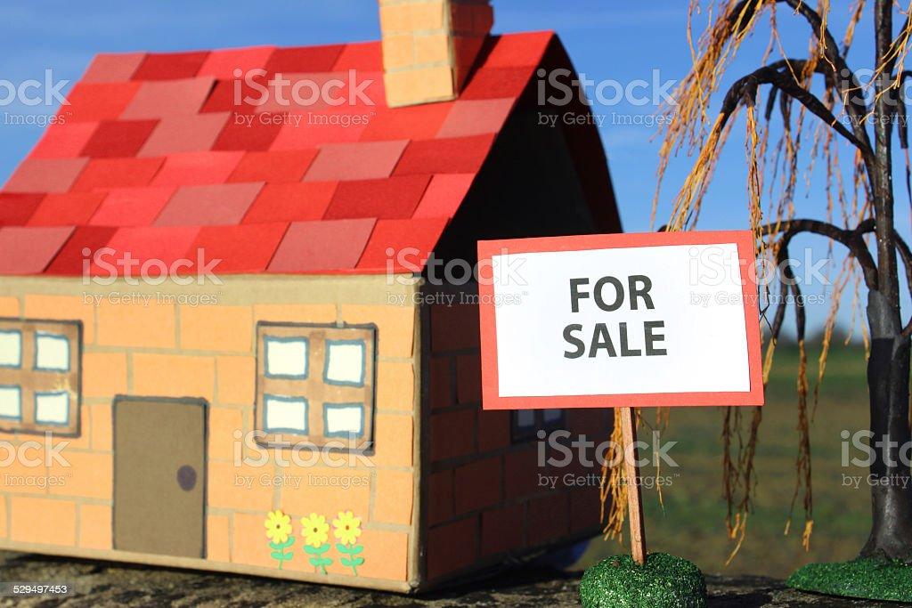 Cardboard Model House For Sale Sold Sign Realestate