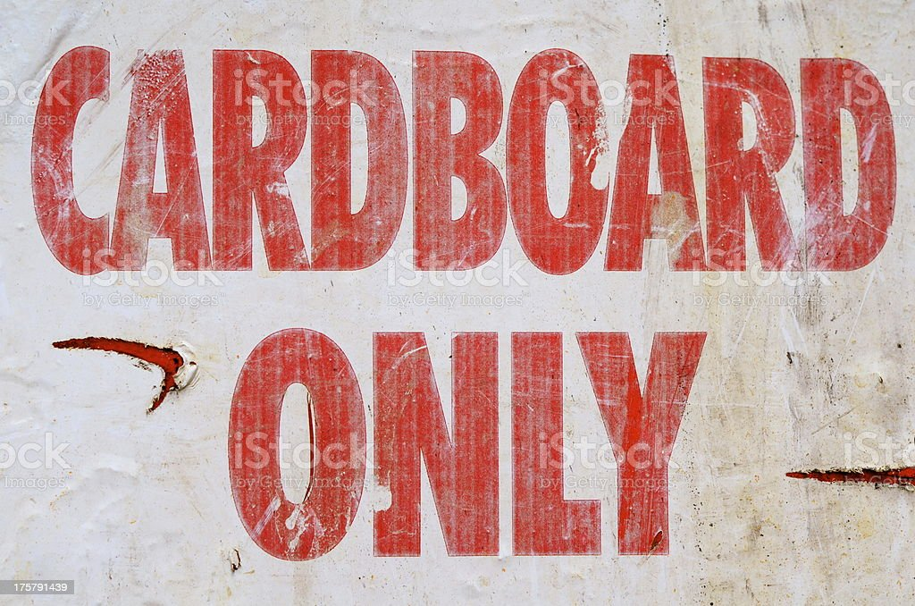 Cardboard Only royalty-free stock photo