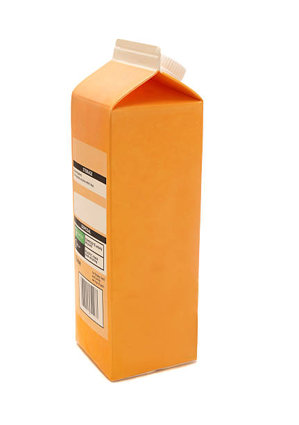 carton jus d'orange carton, par litre. - Photo