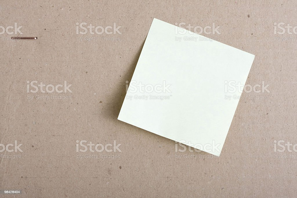 Cardboard, paper and  clips. royalty-free stock photo