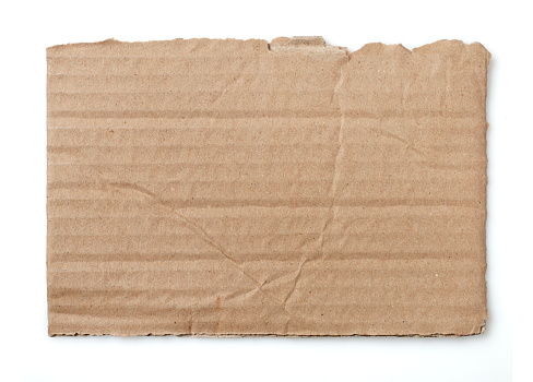 Piece of a cardboard isolated on white