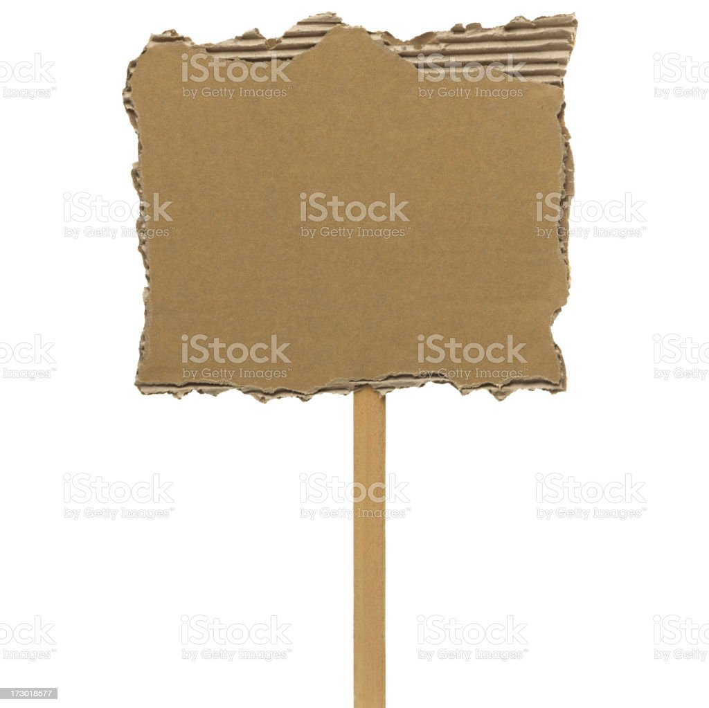 Cardboard, placard royalty-free stock photo