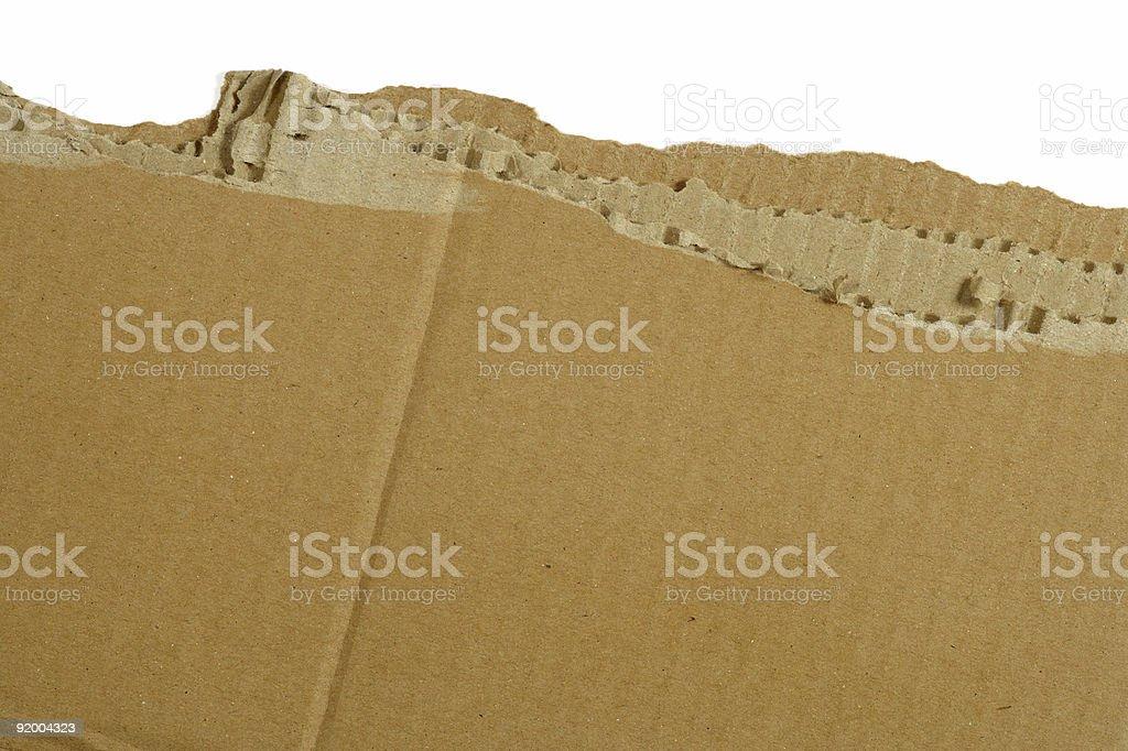 Cardboard rip royalty-free stock photo