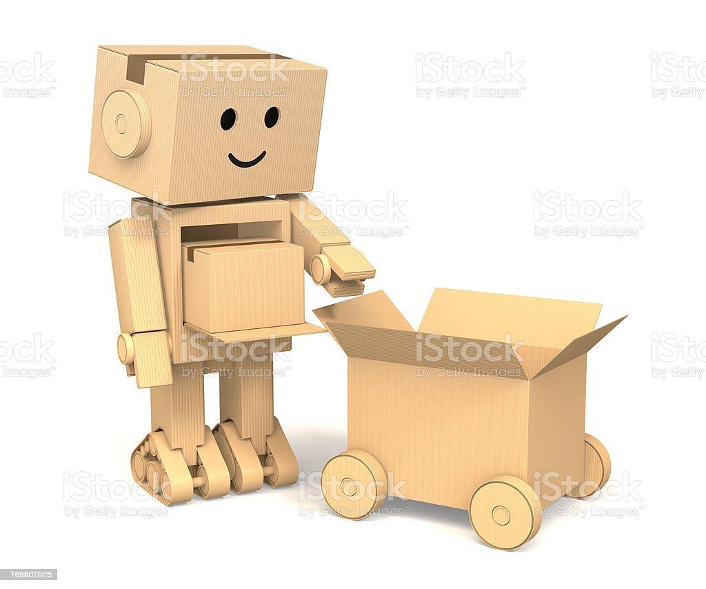 robot de papel y cart n fotograf a de stock y m s im genes de caja istock. Black Bedroom Furniture Sets. Home Design Ideas