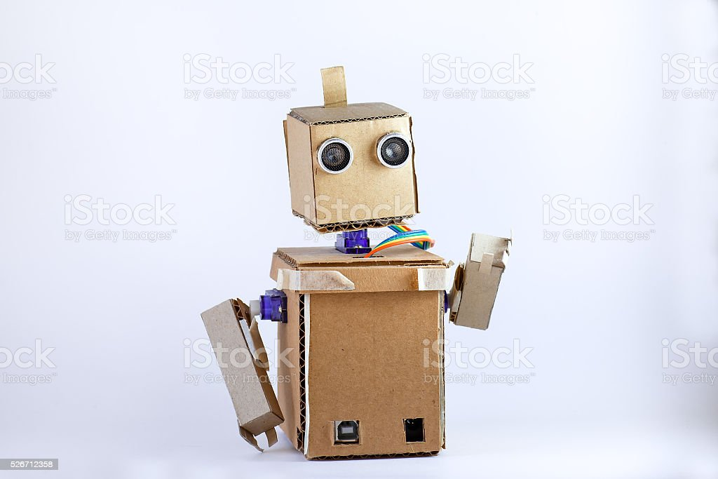 cardboard robot arms stock photo more pictures of artificial istock. Black Bedroom Furniture Sets. Home Design Ideas