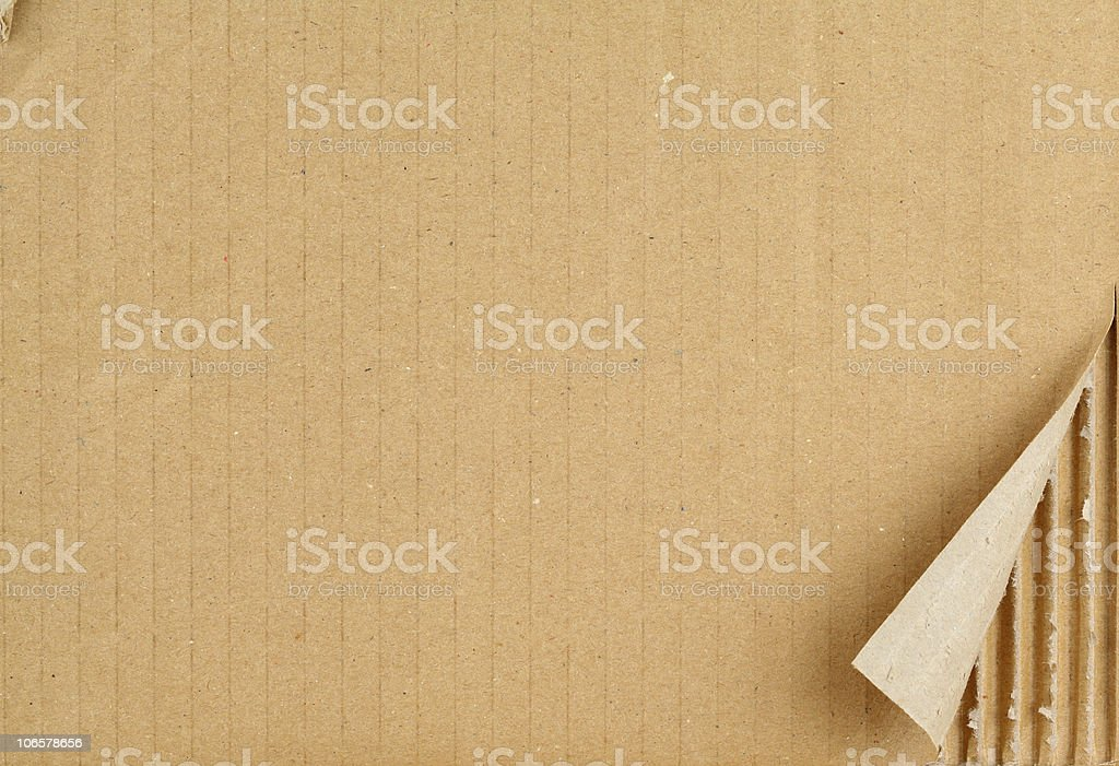 Cardboard sheet. royalty-free stock photo