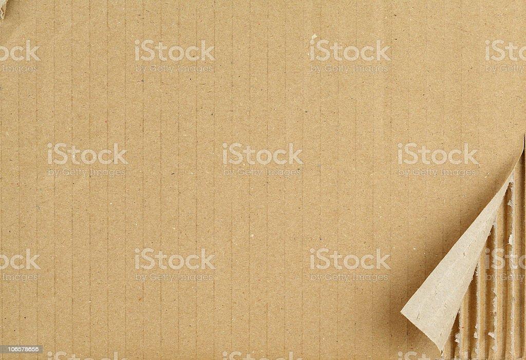 Cardboard sheet. stock photo