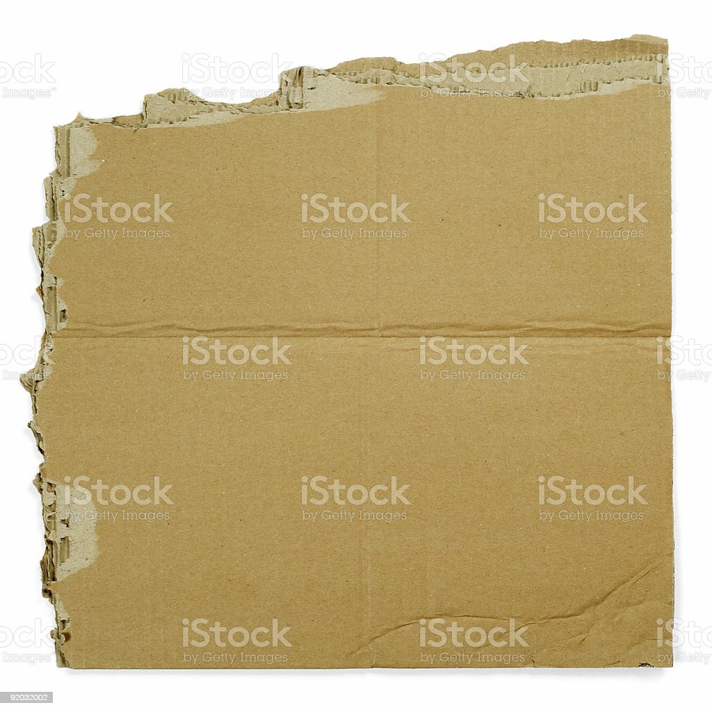 Cardboard sign royalty-free stock photo
