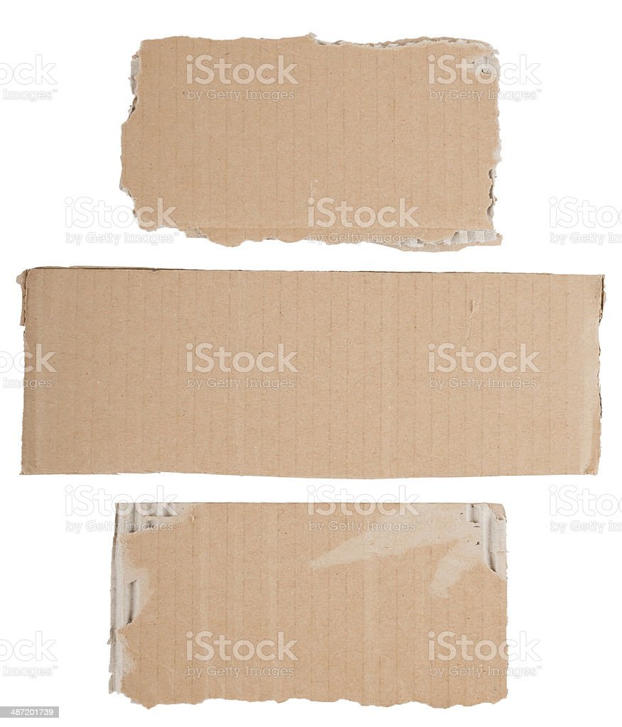 cardboard signs stock photo