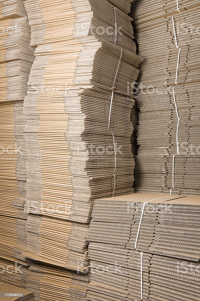 Cardboard Stack royalty-free stock photo