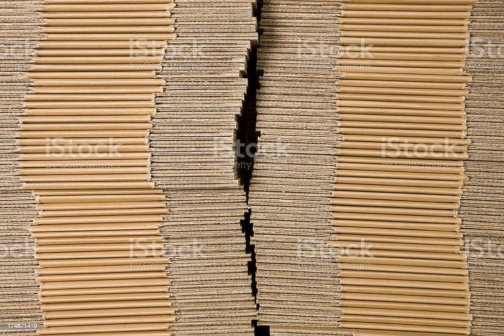 Cardboard Stack royalty-free stock photo