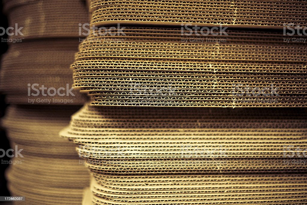 Cardboard stacks royalty-free stock photo