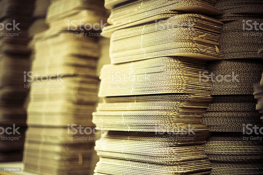 Cardboard stacks royalty-free stock photo