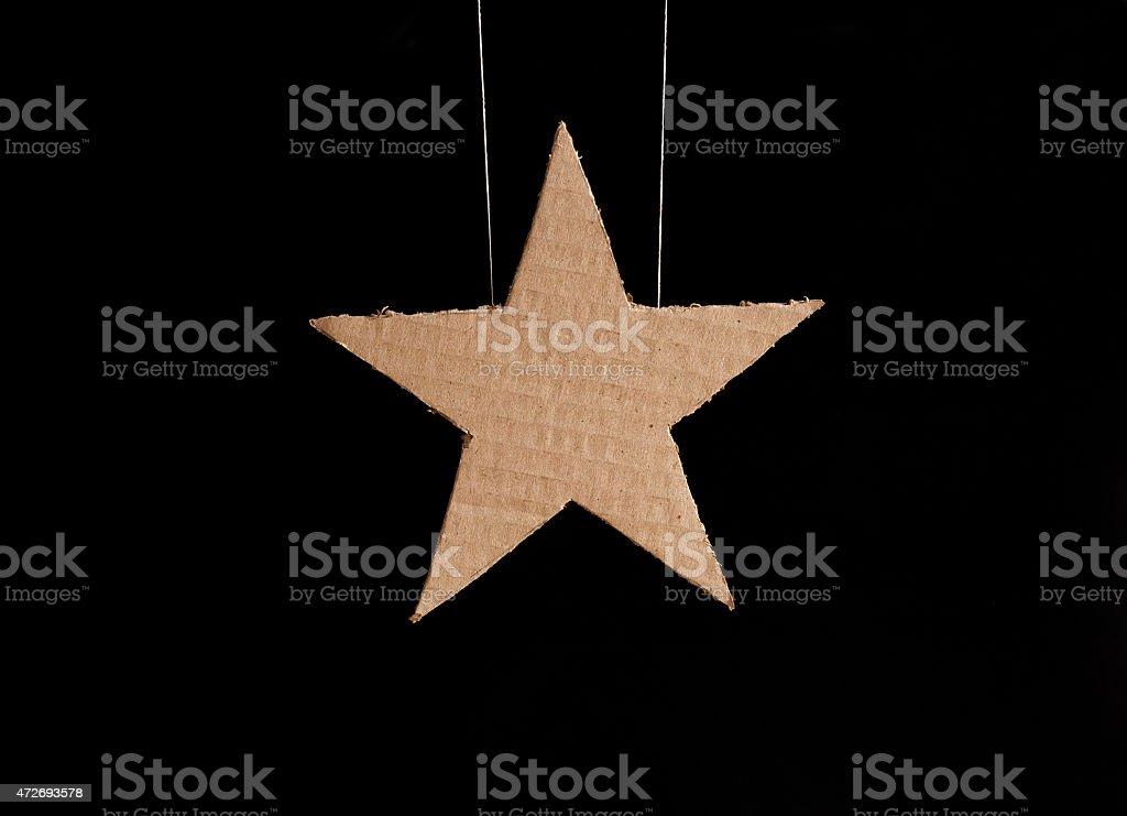 cardboard star stock photo