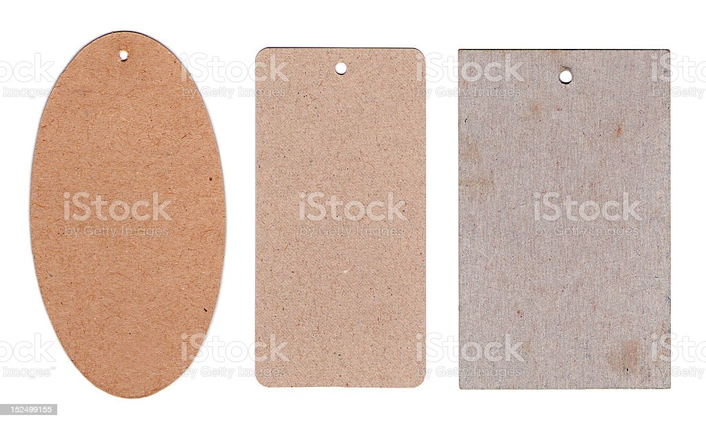Cardboard tags royalty-free stock photo