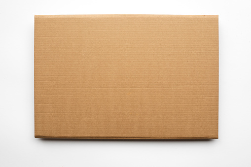 Cardboard texture or background on white background