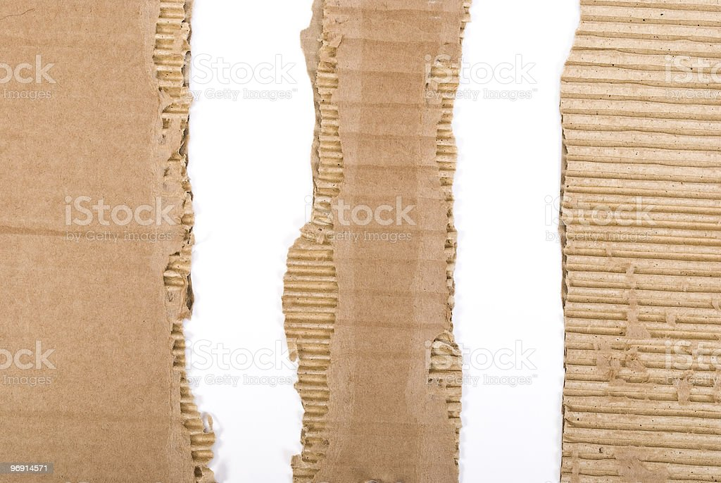 Cardboard torn royalty-free stock photo