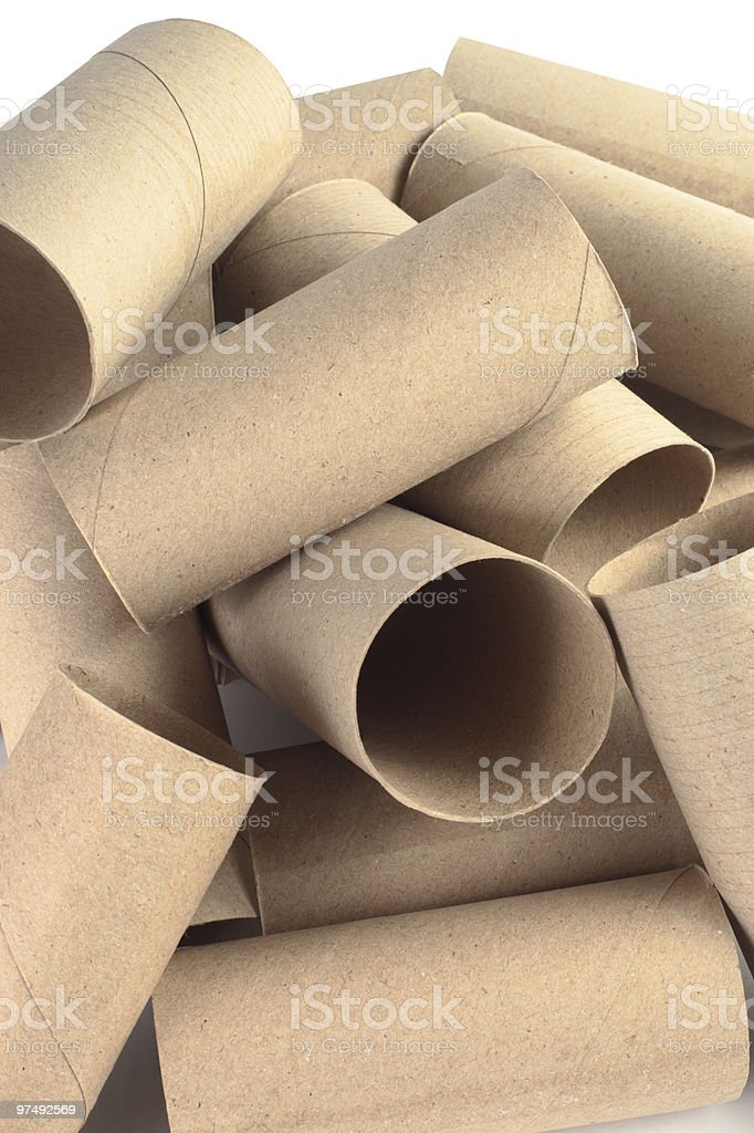 Cardboard Tubes royalty-free stock photo