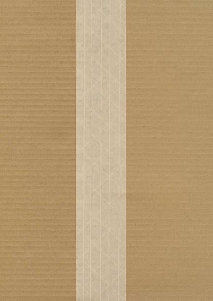 Pappe mit Faser verstärkte Brown Versand-Band – Foto