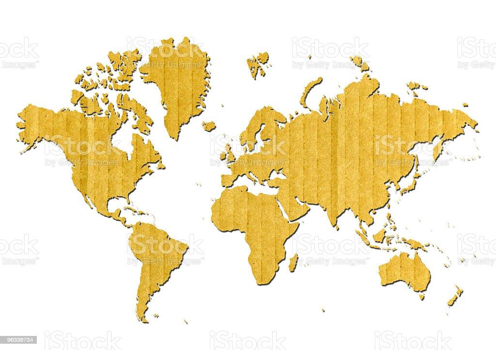Cardboard World stock photo