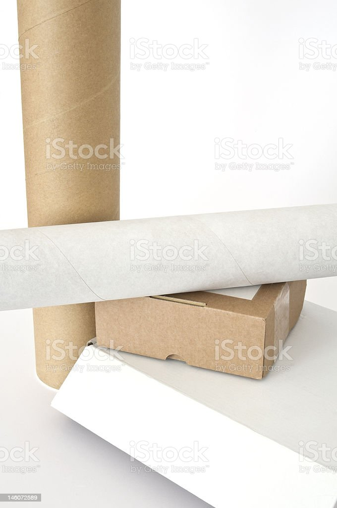 Cardboards royalty-free stock photo