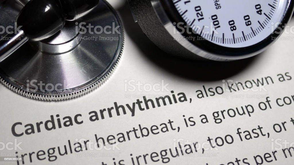 Cardiac Arrhythmia stock photo