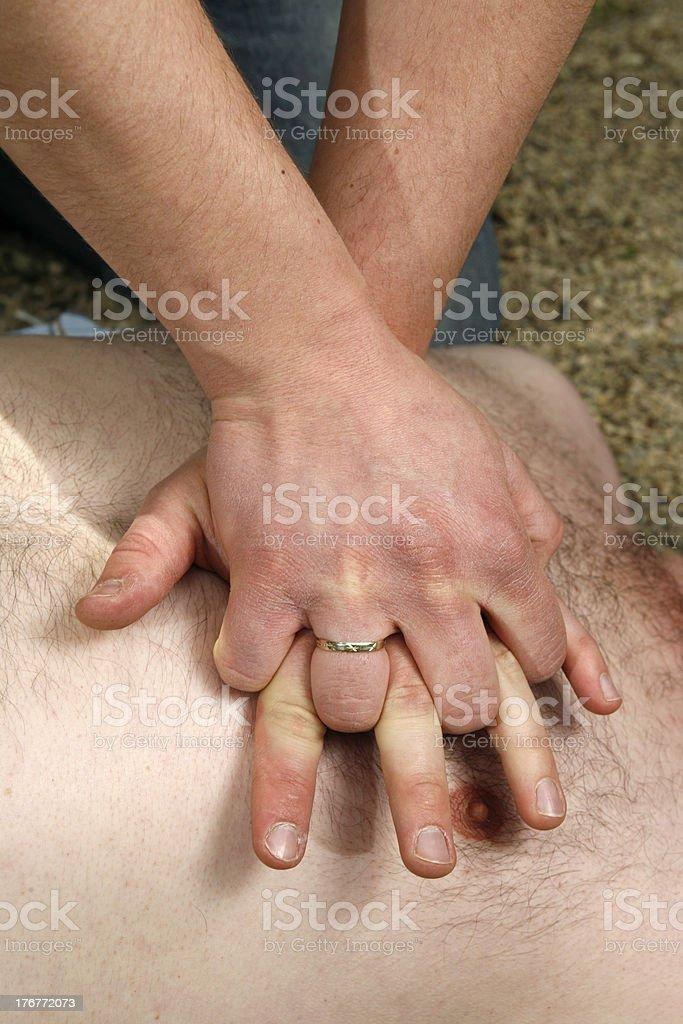 Cardiac Massage royalty-free stock photo