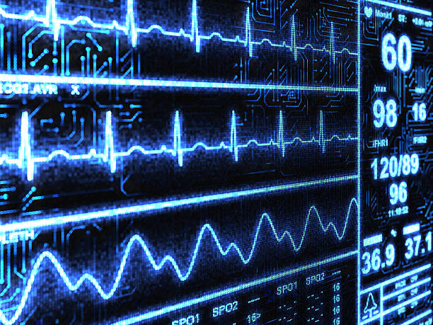 Cardiac Monitor stock photo