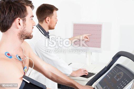 istock cardiac stress test ECG Tracings 904646718