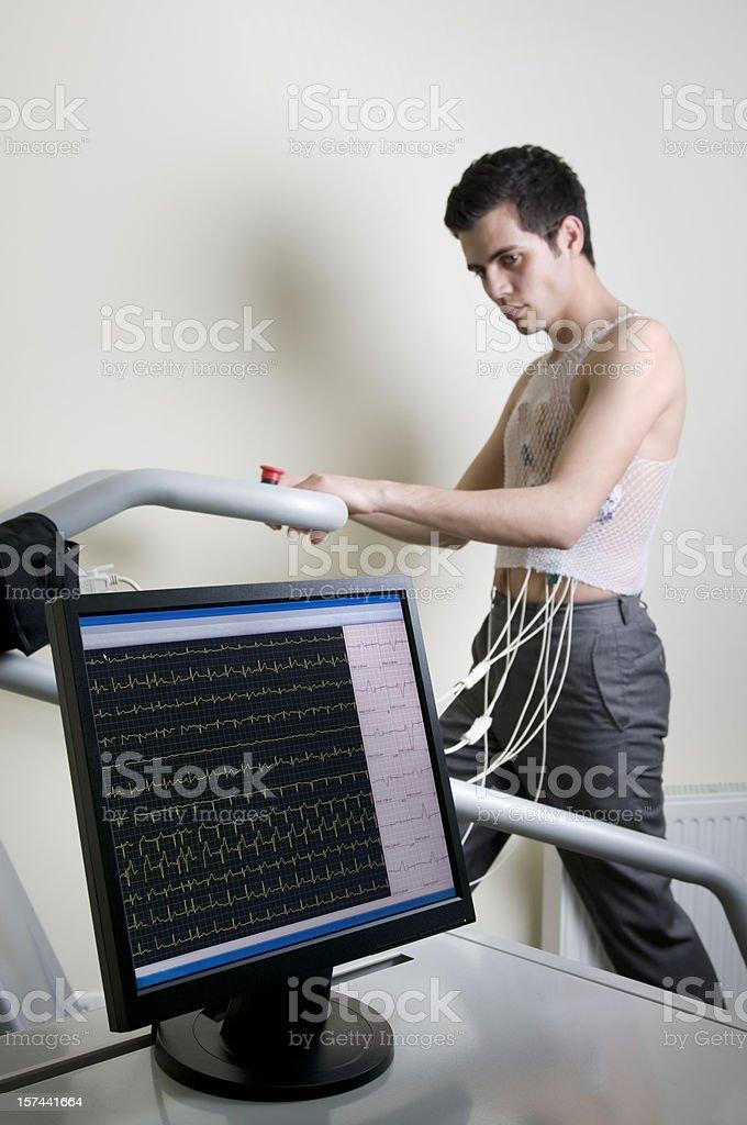 Cardiac Stress Test royalty-free stock photo
