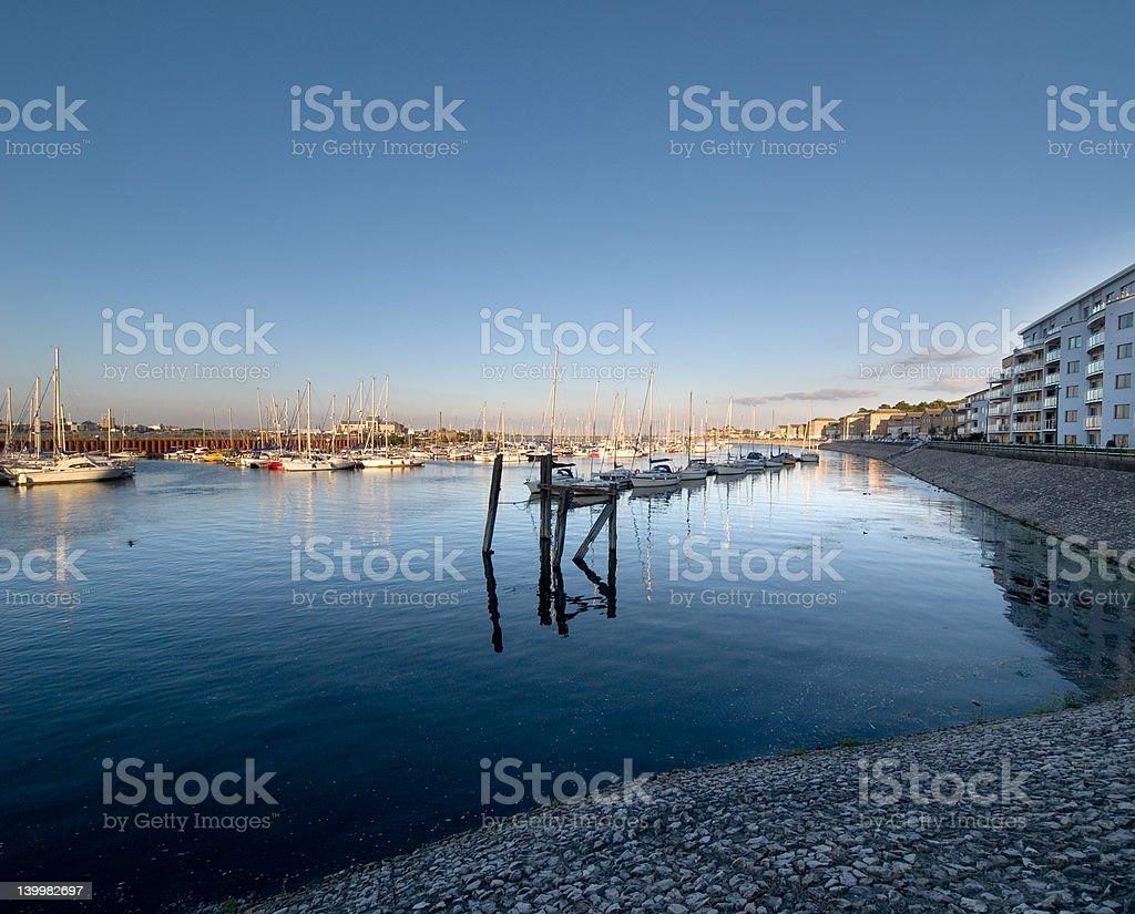 Cardiff Bay at sunset royalty-free stock photo