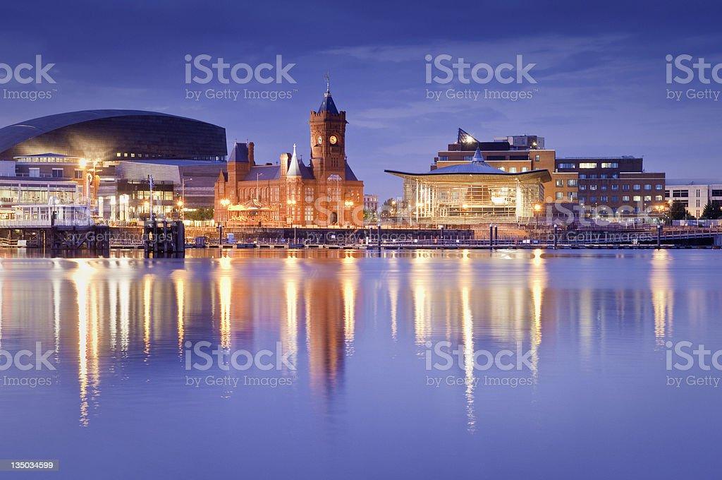 Cardiff Bay Cityscape stock photo