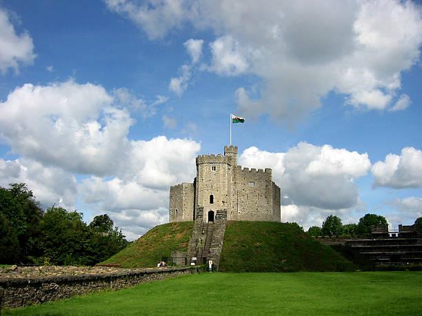 cardiff castle stock photo