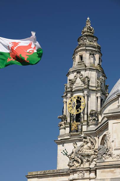 Cardiff City Hall stock photo