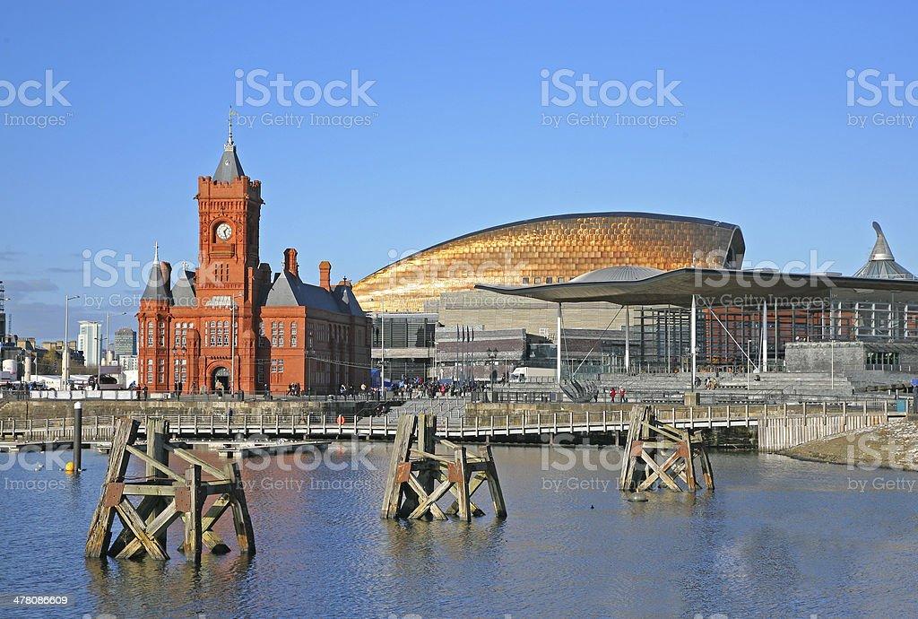 Cardiff city skyline stock photo