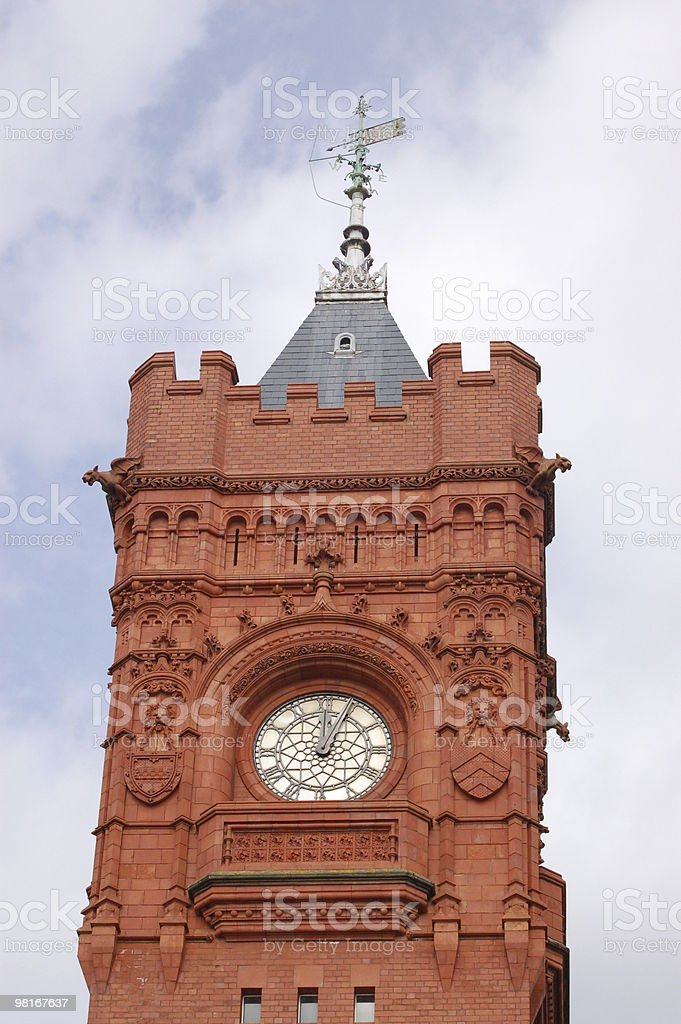 Cardiff Clock tower royalty-free stock photo