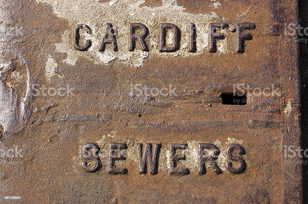 Cardiff Sewers royalty-free stock photo